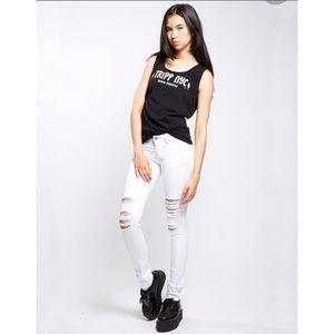 TRIPP NYC Knee Slit Jeans White Size 5/27